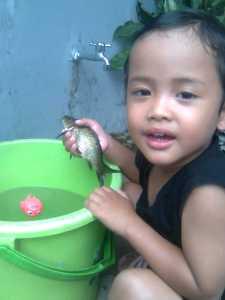 Aufa dan ikannya