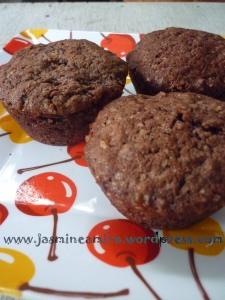 this is it! muffin oatmeal coklat a la Chef Putri :D